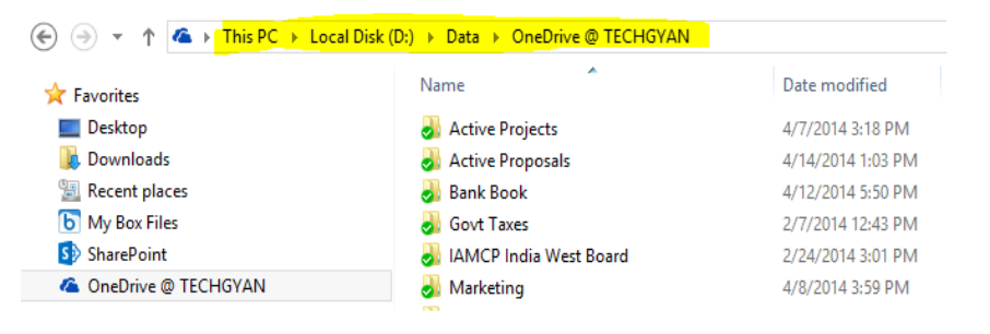 OneDrive Screenshot | TechGyan - Cloud Changes Everything