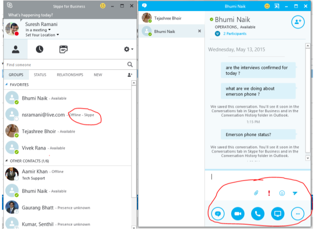 Skype for Business, Screenshot | Skype for Business | TechGyan - CLoud Changes Everything