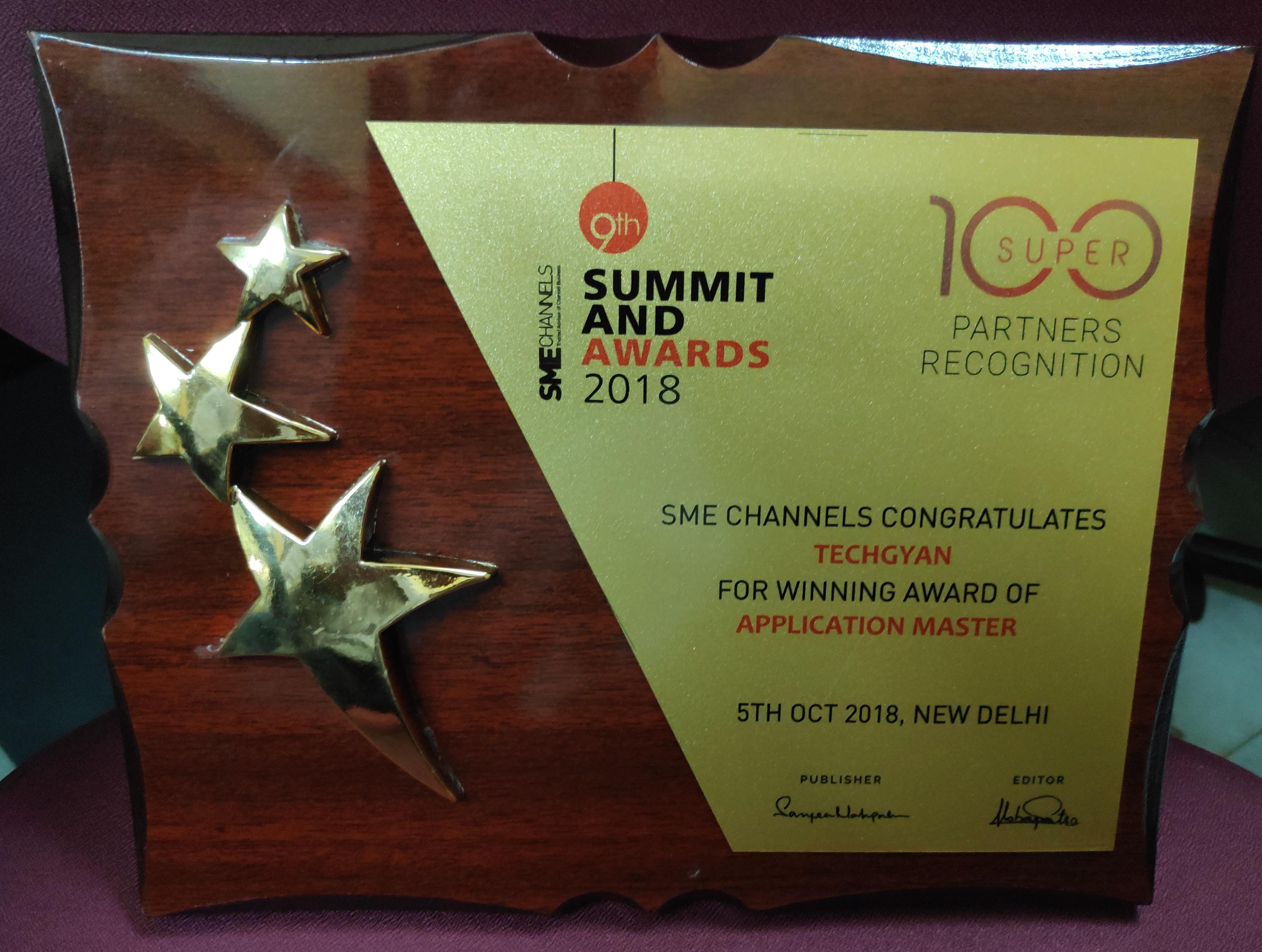 SME Channels 2018  Award